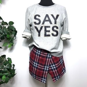 Urban Outfitters Red Plaid Skort Shorts Skirt - 6